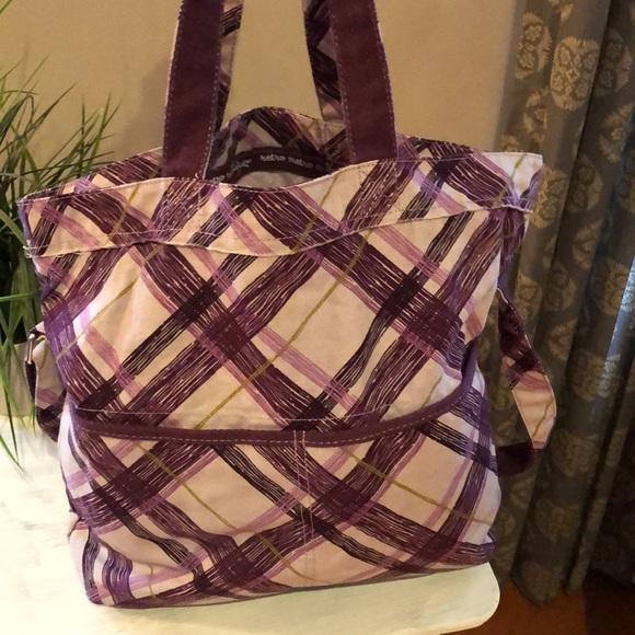 BOGO FREE Thirty one Retro Metro plum plaid bag